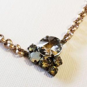 Sabika Cluster Necklace Female Fab Swarovski